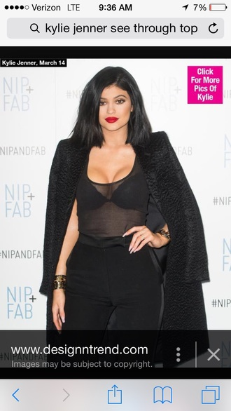 top kylie jenner coat jewels