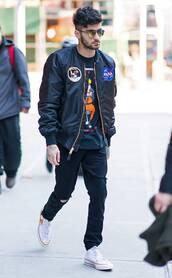 jacket,bomber jacket,zayn malik,streetstyle,mens t-shirt,menswear,mens jacket