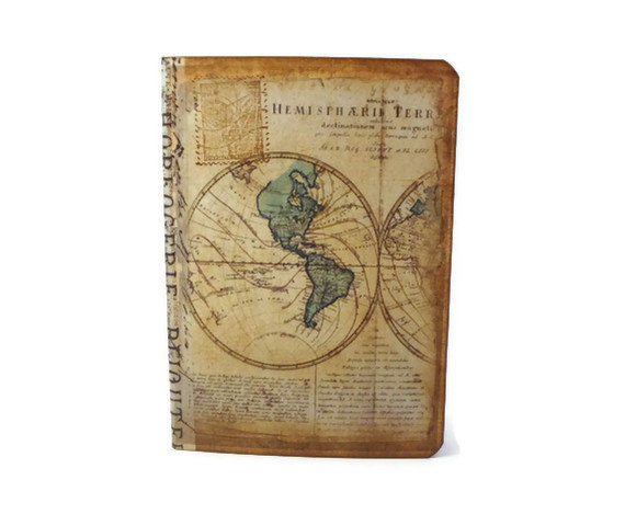 Travel Journal Old World Map Mini Small Travel by Istriadesign