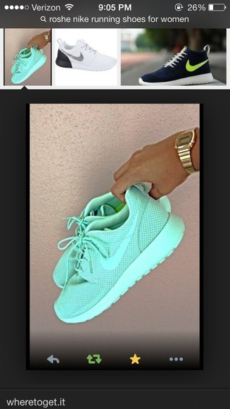 shoes mint green nike roshe