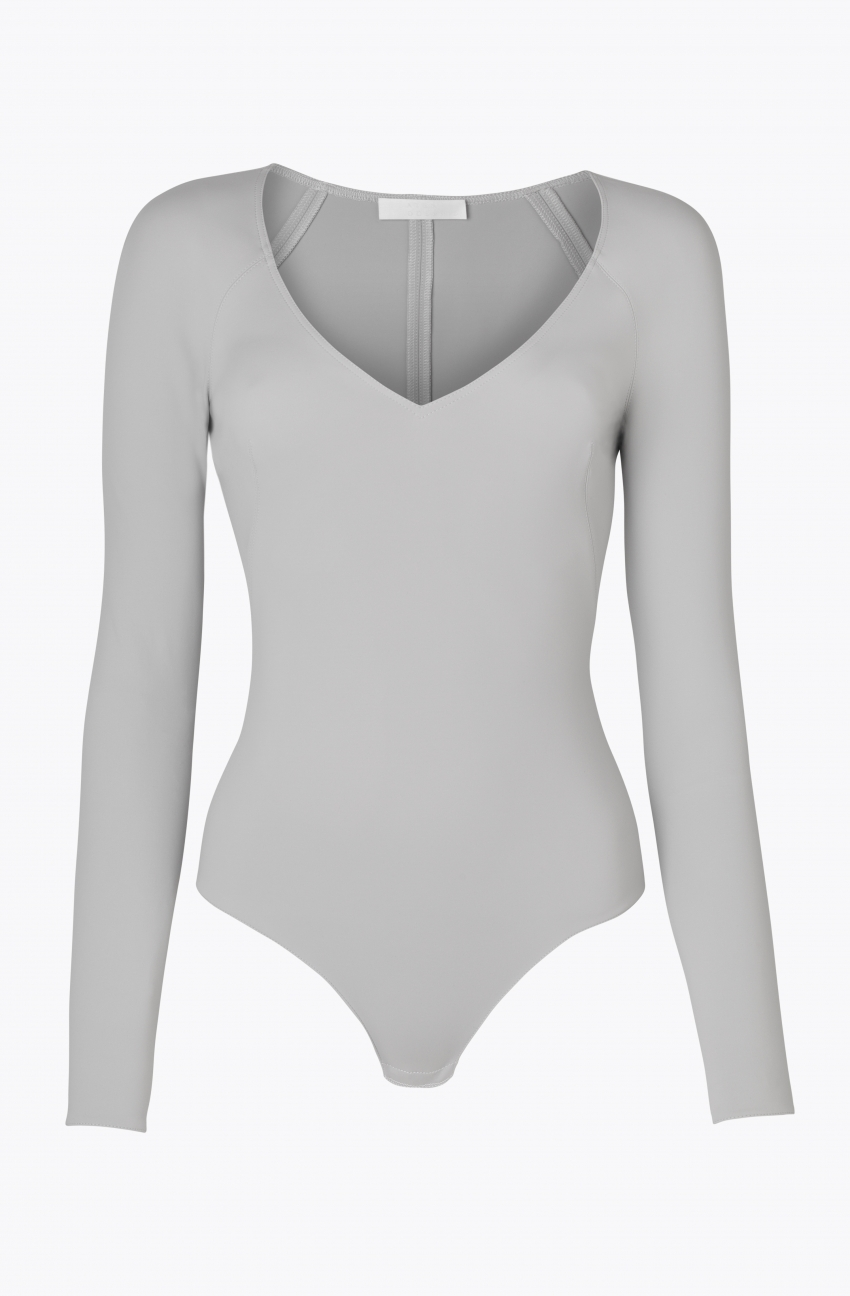 L/S Crawford Bodysuit, Neoprene, Light Grey — Atea Oceanie
