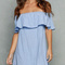 Blue skies off the shoulder dress · fashion struck · online store powered by storenvy