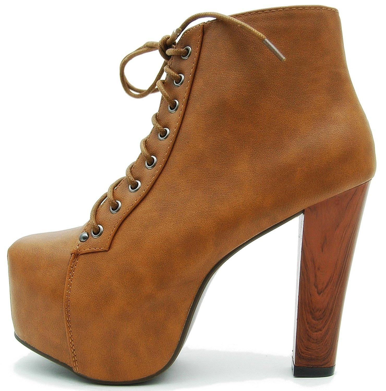 Vain secrets© plateau boots holzabsatz: amazon.de: schuhe & handtaschen