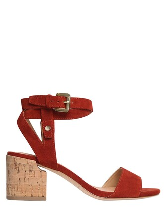 sandals suede rust shoes