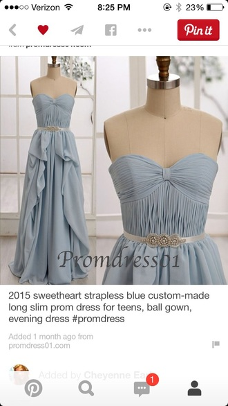 dress blue prom dress strapless dresses sweetheart neckline