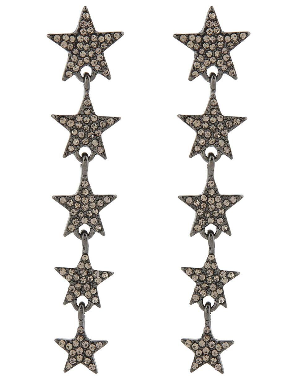 Layla Long Star Earrings