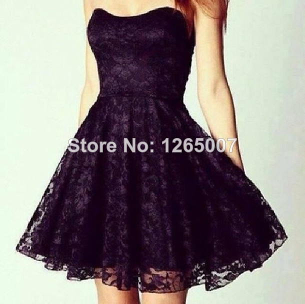 Aliexpress.com : Buy Sweetheart Black Lace Ruffles Mini Short Party Dresses Gowns Lace from Reliable lace dresses for mother of bride suppliers on SFBridal