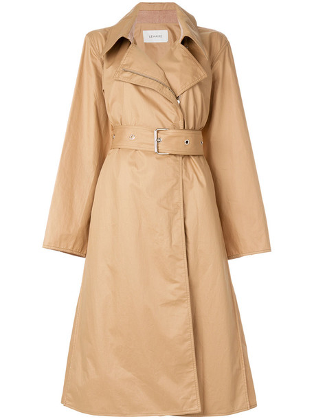 Lemaire coat trench coat women nude cotton
