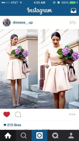 dress pink bow