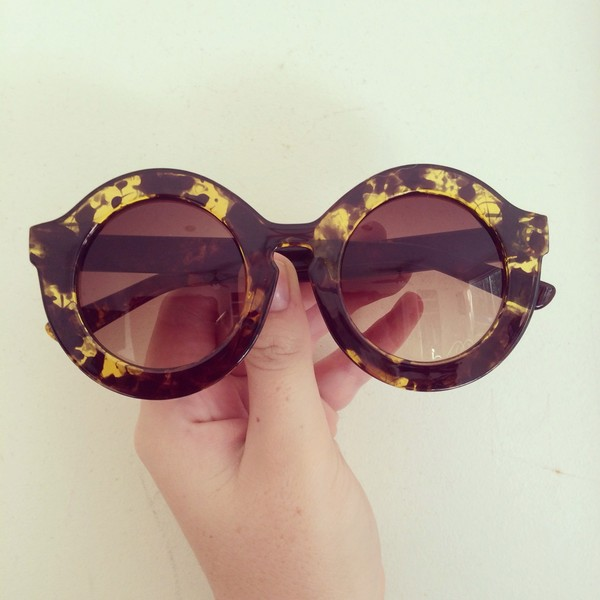 sunglasses fashion yellow black vintage