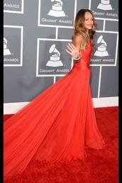 dress,rihanna,red