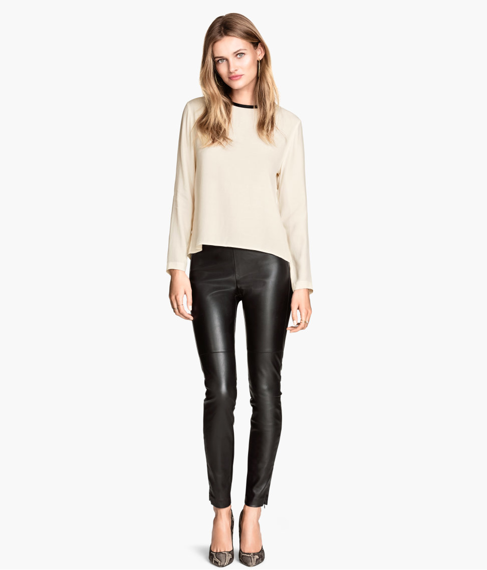H&M Imitation leather trousers £24.99