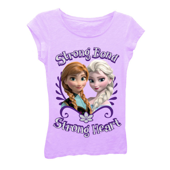 purple t-shirt sisters elsa and anna strong bond frozen disney disney's frozen girls clothing kids clothing kids frozen clothing frozen gear tshirtmall t-shirt for girls purple shirt elsa disney clothes