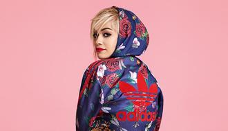 cardigan adidas rita ora roses blue jacket sweater adidas jacket adidas tracksuit adidas originals