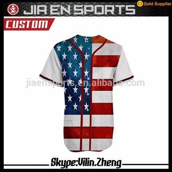 100% Polyester Baseball Jersey American Flag Baseball Jersey - Buy American Flag Baseball Jersey,100% Polyester Baseball Jersey,American Baseball Jersey Product on Alibaba.com