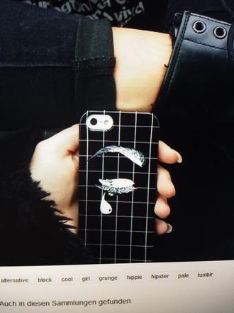 phone cover grunge pale black white