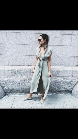 dress grey dress grey khaki maxi dress crop cropped dress maxi skirt
