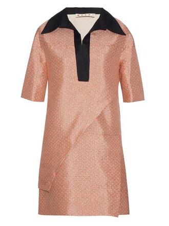 dress tunic dress layered print pink