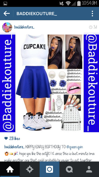 cupcake dope outfit baddiekouture_ outfit idea skirt