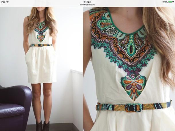 dress aztec dress white dress aztec