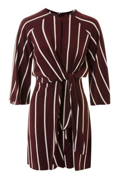 Topshop dress oxblood