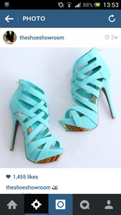 shoes,mint,green,turquoise,high heels