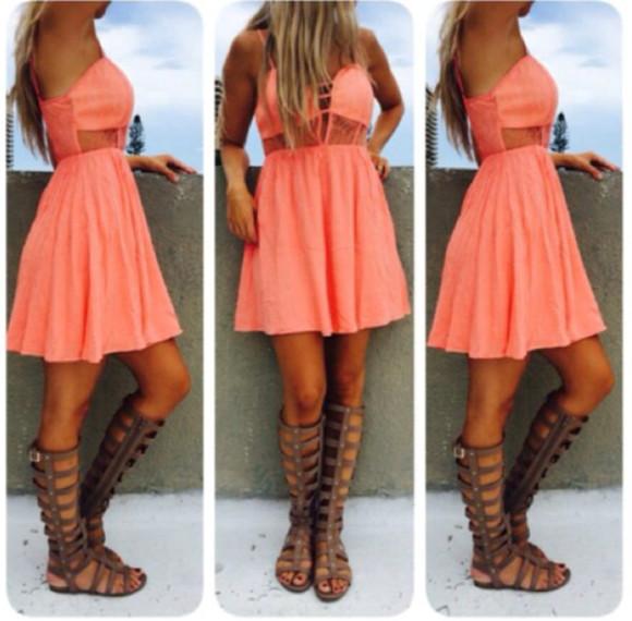 short dress coral
