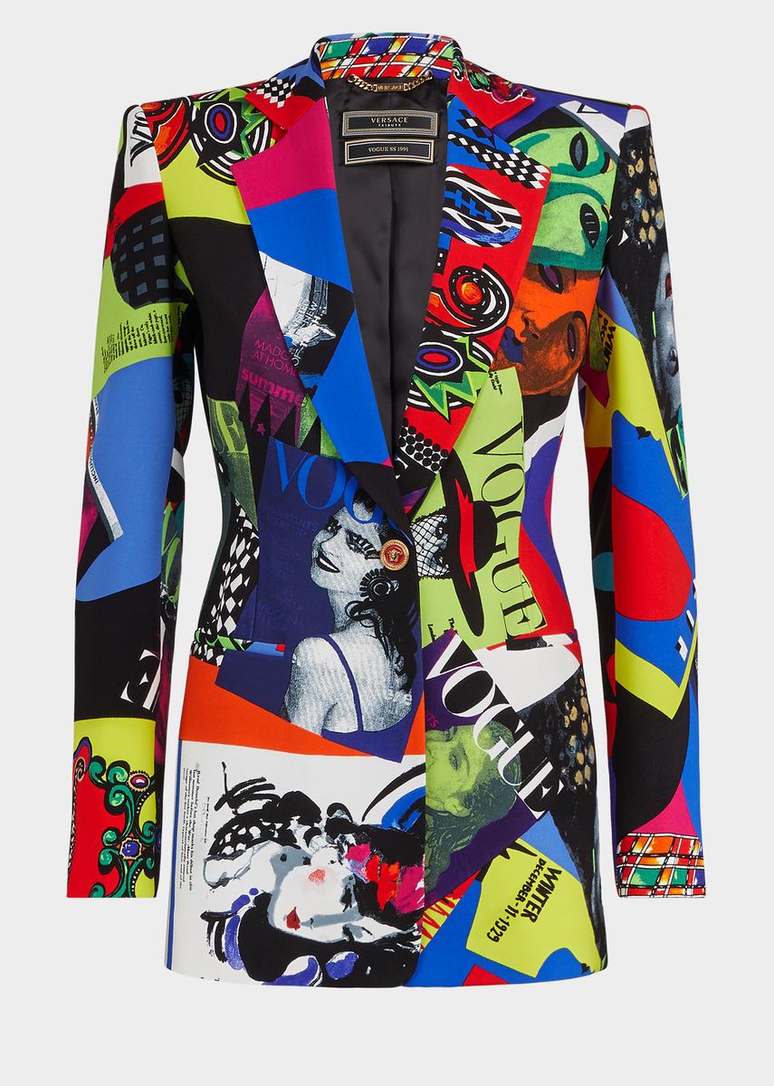8291878c04 Versace Vogue SS'91 Print Blazer Jacket for Women | US Online Store