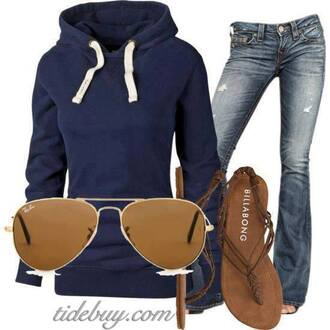 sweater blue blue sweater sunglasses rayban jeans skinny jeans streetwear streetstyle street fashion street clothing streetfahion athletic athleticwear sandals brown sandals shoes