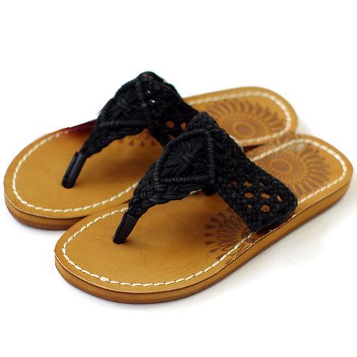 shego shopping mall — [grzxy61900389]Boho Sunflower White/Black Braided T Strap Thong Sandal