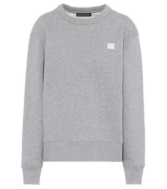 Acne Studios sweatshirt cotton grey sweater