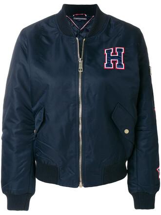 jacket bomber jacket women blue
