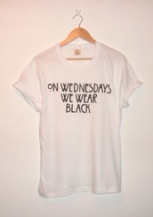 t-shirt,shirt,white,grunge,mean girls,alternative,quote on it,tekst,black