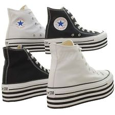 Converse Chuck Taylor Platform HI Classic Casual Shoes Black White Select 1 | eBay
