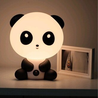 panda cute asian home accessory lamp kids room kawaii kawaii accessory home furniture teddy bear funny tumblr instagram pink pinterest girly cool night light light