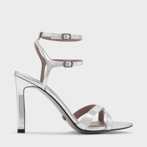 cross sandals leather sandals leather silver shoes