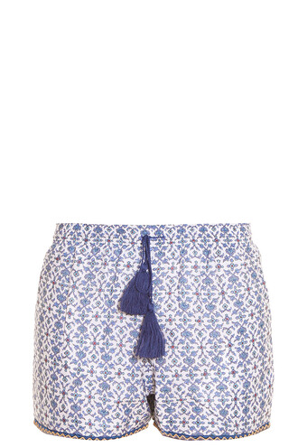shorts printed shorts blue