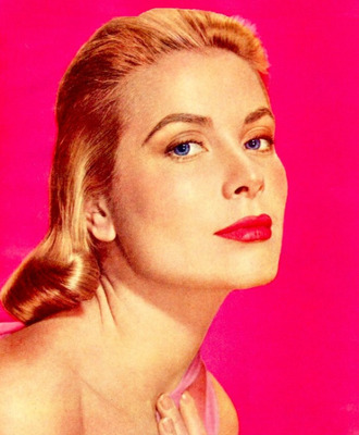 make-up grace kelly red lipstick actress hairstyles blonde hair eyebrows retro