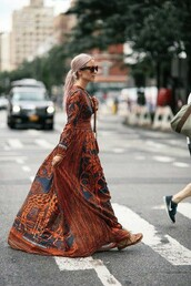dress,long dress,long sleeves,long,pattern,animal print,giraffe
