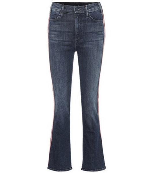 Mother Hustler high-rise flared jeans in blue
