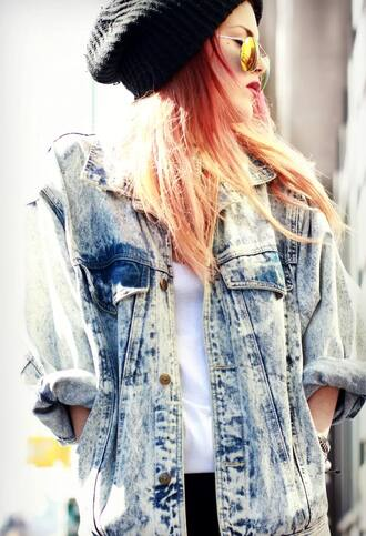 jacket blue denim denim jacket acid wash acid washed denim jacket blue jacket le happy le happy