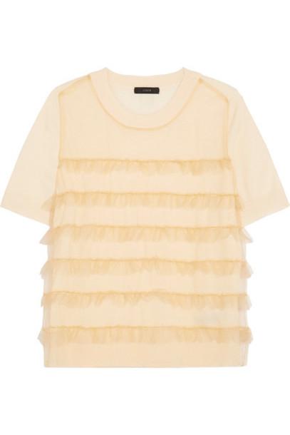 J.Crew t-shirt shirt t-shirt wool cream top