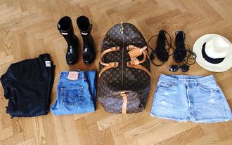 look de pernille blogger jacket jeans bag shoes hat sunglasses