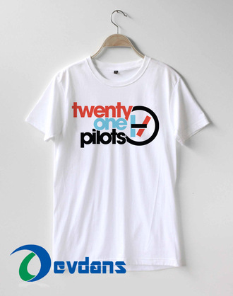 t-shirt logo twenty one pilots white