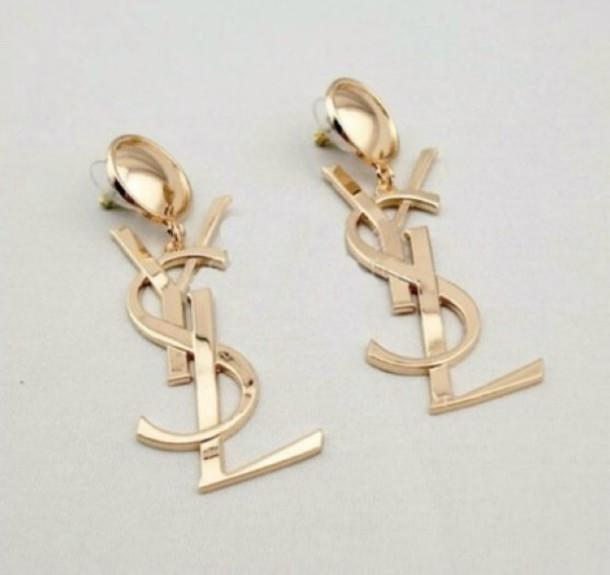 8743cc6a213 jewels, ysl earrings - Wheretoget