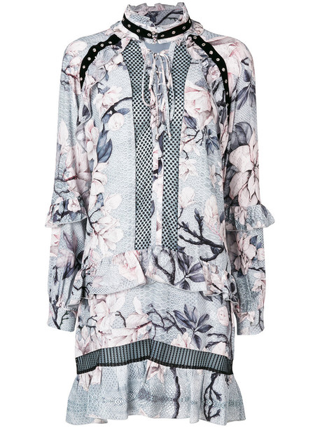 just cavalli dress print dress women floral print grey