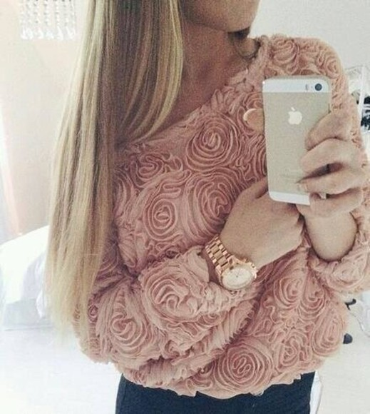 sweater rose pink