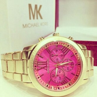 jewels michael kors montre pink