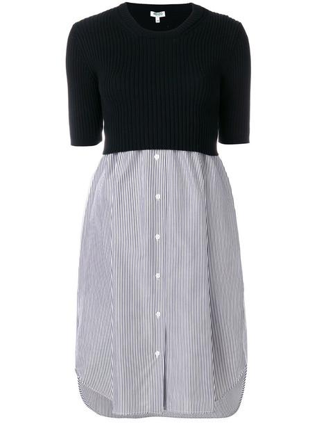 Kenzo dress shirt dress women cotton black