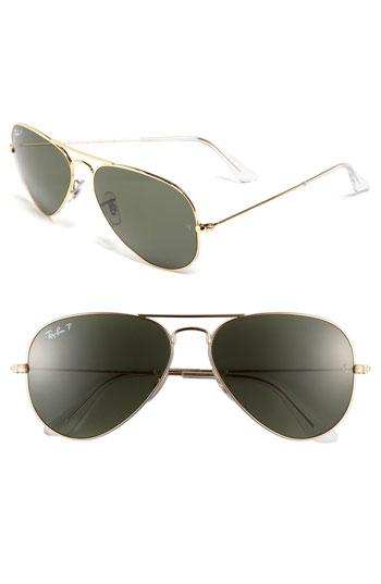 Ray-Ban 'Original Aviator' 58mm Polarized Sunglasses | Nordstrom